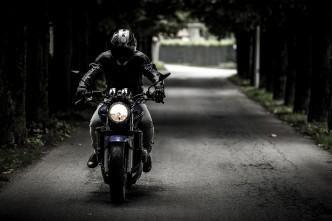 冬場のバイク
